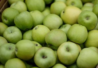 green apples in the box