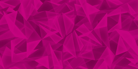 Abstract crimson background, glass crystals texture, many triangles pink wallpaper, vector design