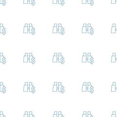 binoculars with dollar icon pattern seamless white background
