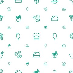 cuisine icons pattern seamless white background