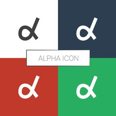 alpha icon white background