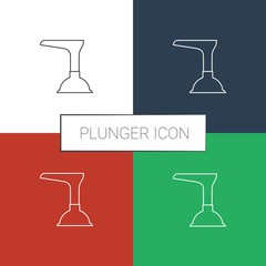 plunger icon white background