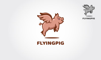 Flying Pig is illustrated and fantasy logo design. Take a touch of creativity and fun for with your business.