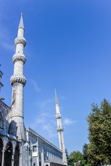 The exterior of the Blue Mosque in Istanbul