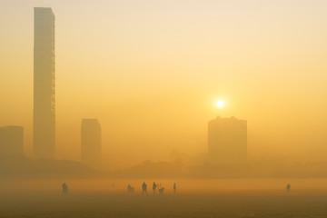 Sunrise at Kolkata. Papier Peint