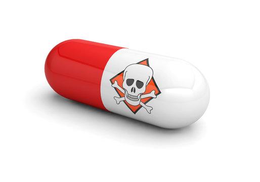 danger medicine pill drugs addiction 3D