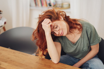 Young woman relaxing with eyes closed