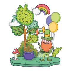st patricks day leprechaun with rainbow
