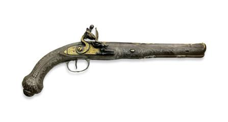 Antique flintlock pistol