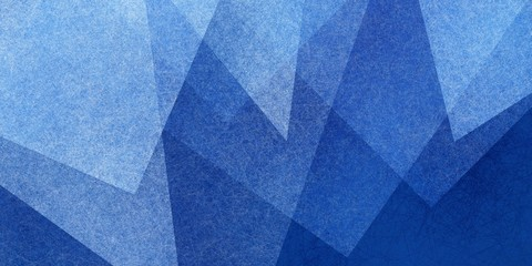 Background of dark blue colors with white texture in abstract geometric pattern of triangles and squares in angles, modern abstract blue background design