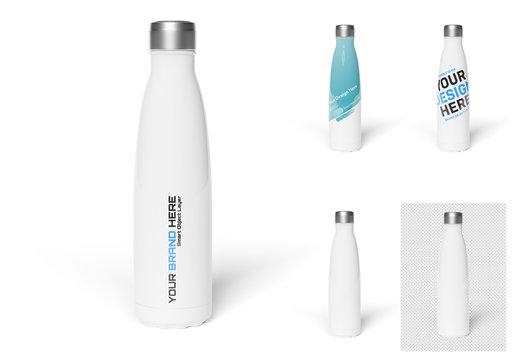 Sport Bottle Isolated on White Background Mockup