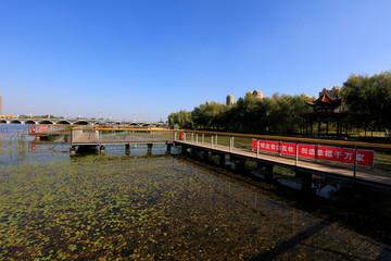 Park trestle bridge in china