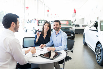 Couple Purchasing Car Together