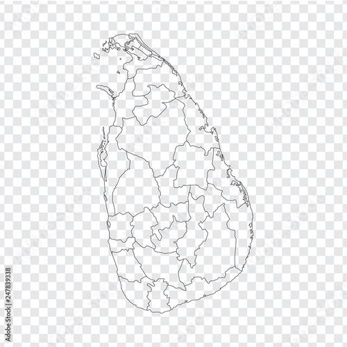 Blank map Sri Lanka. High quality map Sri Lanka with ...