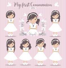 Lovely set of girls for First Communion