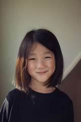 Close up of a Chinese American child smiling
