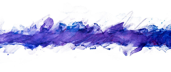 splash watercolor painting background elements band blue with a touch of purple