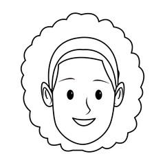young woman face cartoon