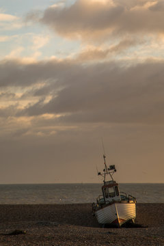 Sunrise Fishing Ships