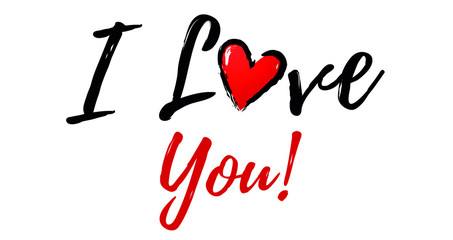 I love You Illustration with heart