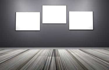 Leere Bilder an einer Wand