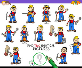 find two identical workers game for kids