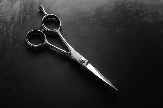 Scissors for cutting hair. For the barber. professional scissors