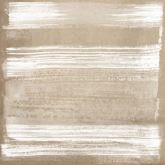 Light brown ceramic surface with white paint strokes texture background.