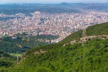 Cityscape View of Tirana, Albania
