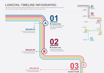 Longtail Timeline Process Infographic Layout