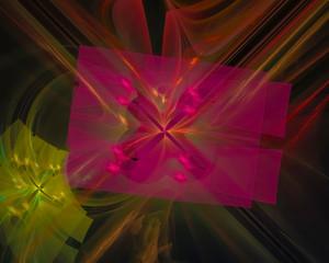 digital abstract fractal, fantasy design template elegant