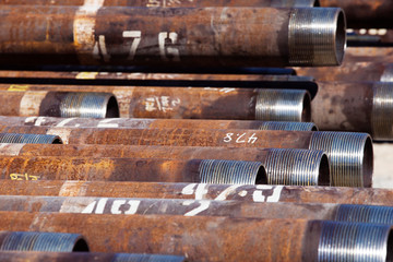 Close up of old rusty pipes