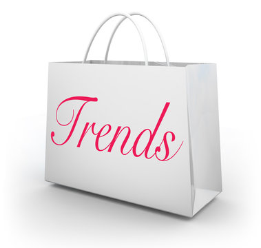 Trends Popularity Latest Buzz Shopping Bag 3d Illustration