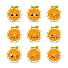 Cute middle orange