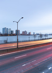 FDR drive view at midnight with long exposure