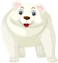 A polar bear cartoon character