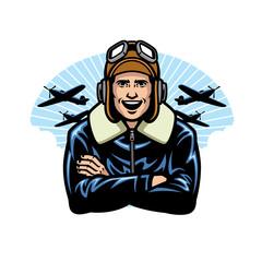 Fototapeta world war pilot smiling obraz