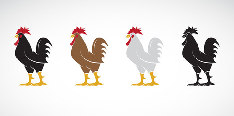 Vector of rooster or cock design on white background., Animal farm. Easy editable layered vector illustration.