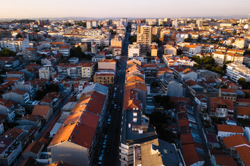 Aerial view of residential houses Porto - Portugal.