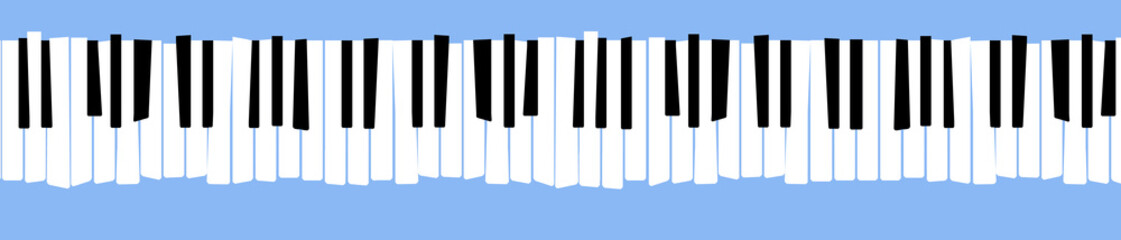 Here is a stylized, distorted retro piano keyboard. Fotomurales