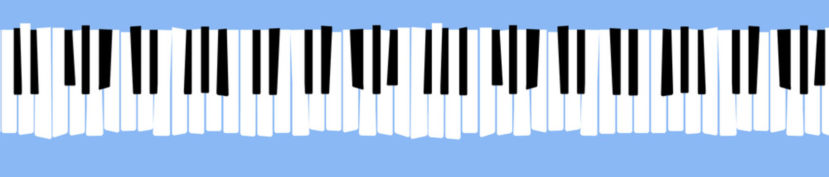 Here is a stylized, distorted retro piano keyboard.