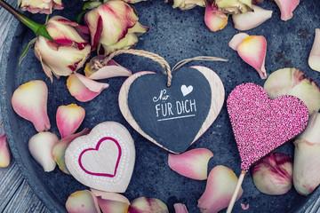 Nur für Dich Karte Hintergrund Sweet Heart
