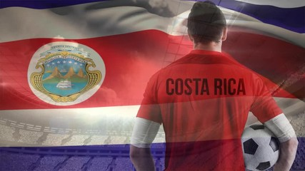 519e4654c 0 19 Football player with flag of Costa Rica on a stadium background