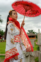 Chinese traditional dress young asian woman