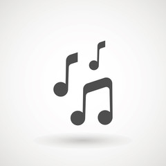 Music note icon in trendy flat style isolated on background. Music note icon page symbol for your web site design logo, app, UI. Vector illustration, EPS10. - Vector.