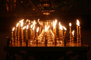 Lighting Candles In Church