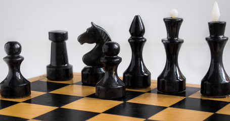 pawn and other chess pieces