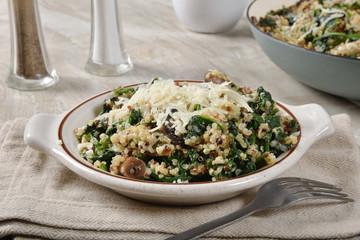Healthy spinach quinoa salad
