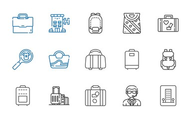 luggage icons set