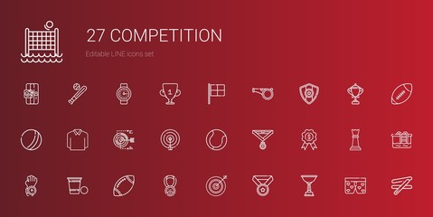competition icons set